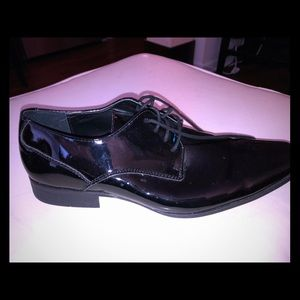 Calvin Klein Black Patent Leather Oxfords